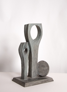 The finished maquette, HAC cement, 48cm